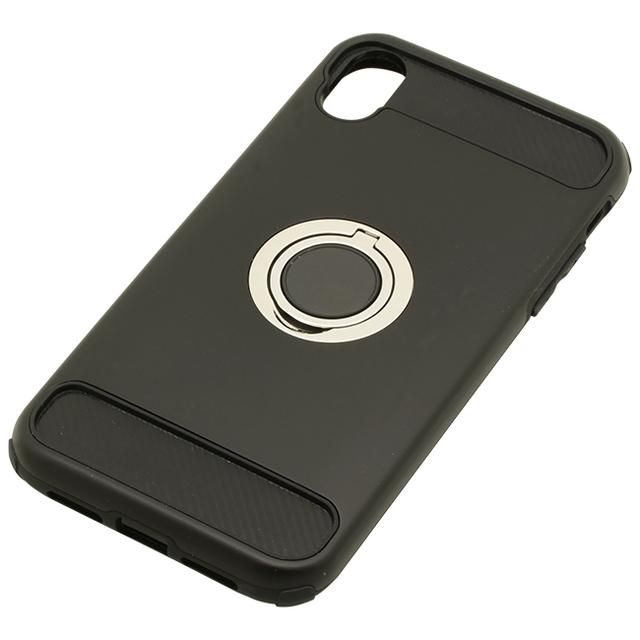 iPhoneXR用 6.1インチリング付ケース耐衝撃